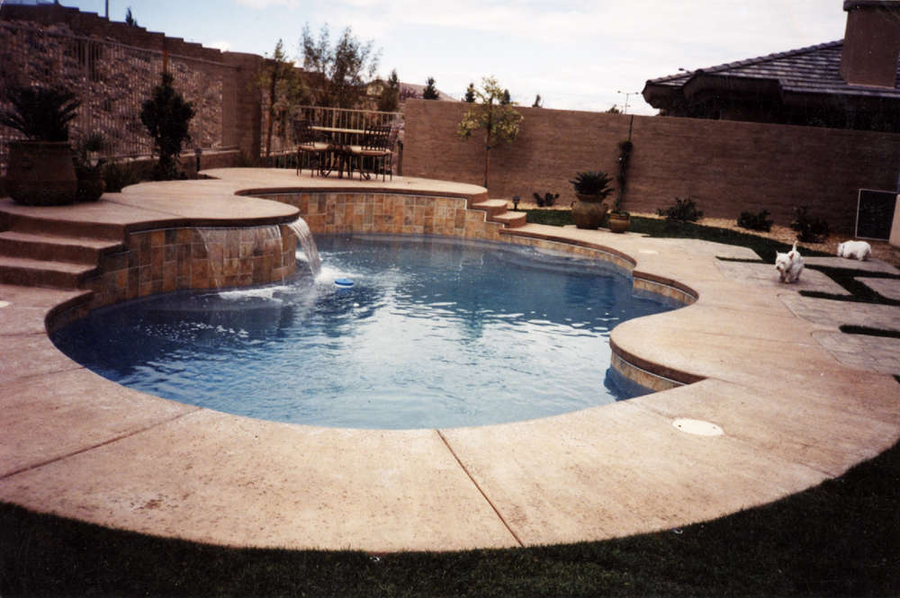 built in pool